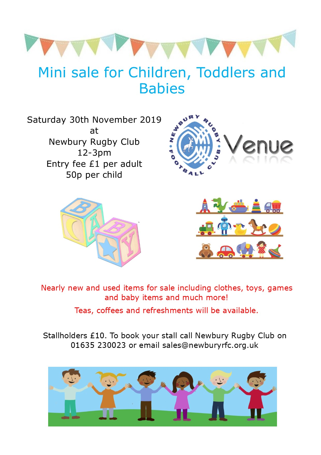 Mini sale for Children, Toddlers and Babies - Saturday 30th